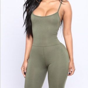 NWOT Fashion Nova Jumpsuit Olive